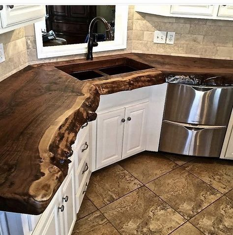 Natural Wood Countertops Live Edge Wood Slabs Outdoor Kitchen