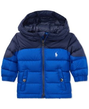 9fbfa02e15049 Polo Ralph Lauren Baby Boys Quilted Ripstop Down Jacket - Rugby Royal 12  months