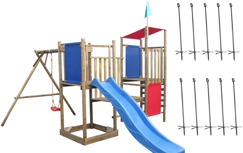 Plac Zabaw Franek Lux Hustawka Zjezdzalnia Kotwy Park Slide Structures Park