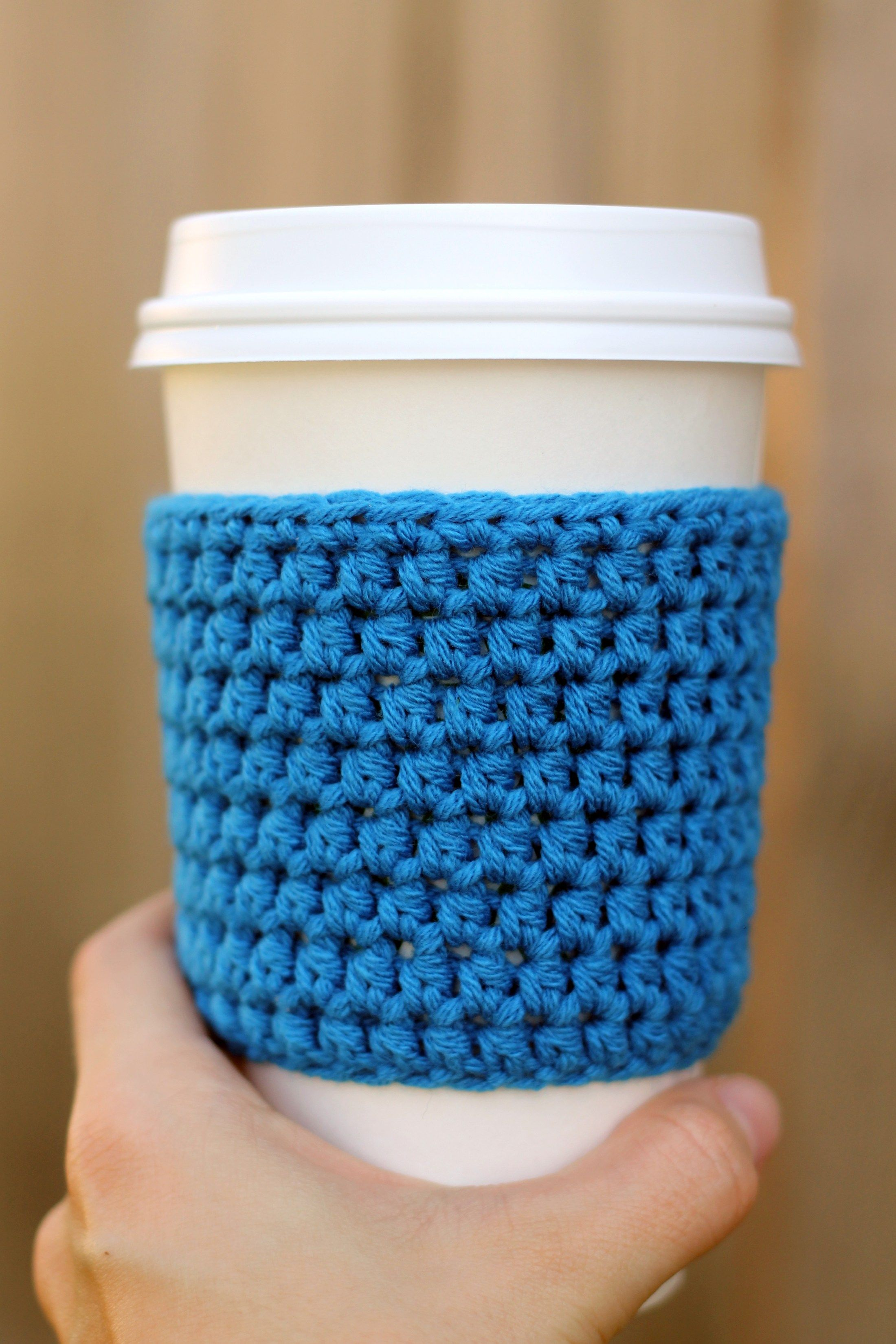 Easy Crocheted Coffee Sleeve Pattern Projects To Try Crochet