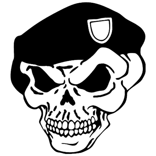 Green Beret Skull Laptop Car Truck Vinyl Decal Window Sticker - Promotional products stickers and decals