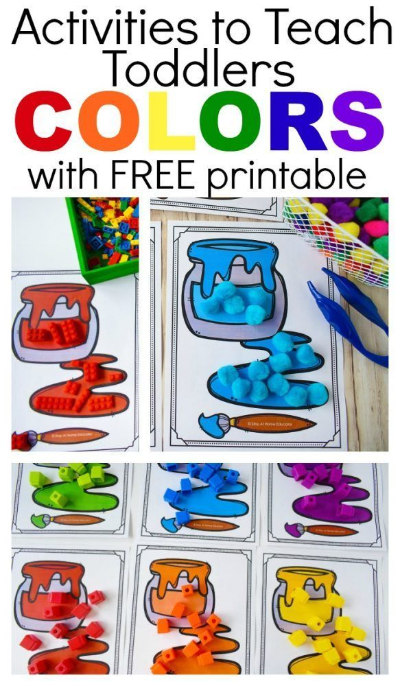 6 Ways to Teach Colors to Toddlers with Free Printable - Toddlers Diy