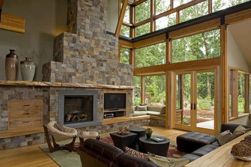 Stone Walls Inside Homes interior wood and stone walls | using wood wood used is wood from