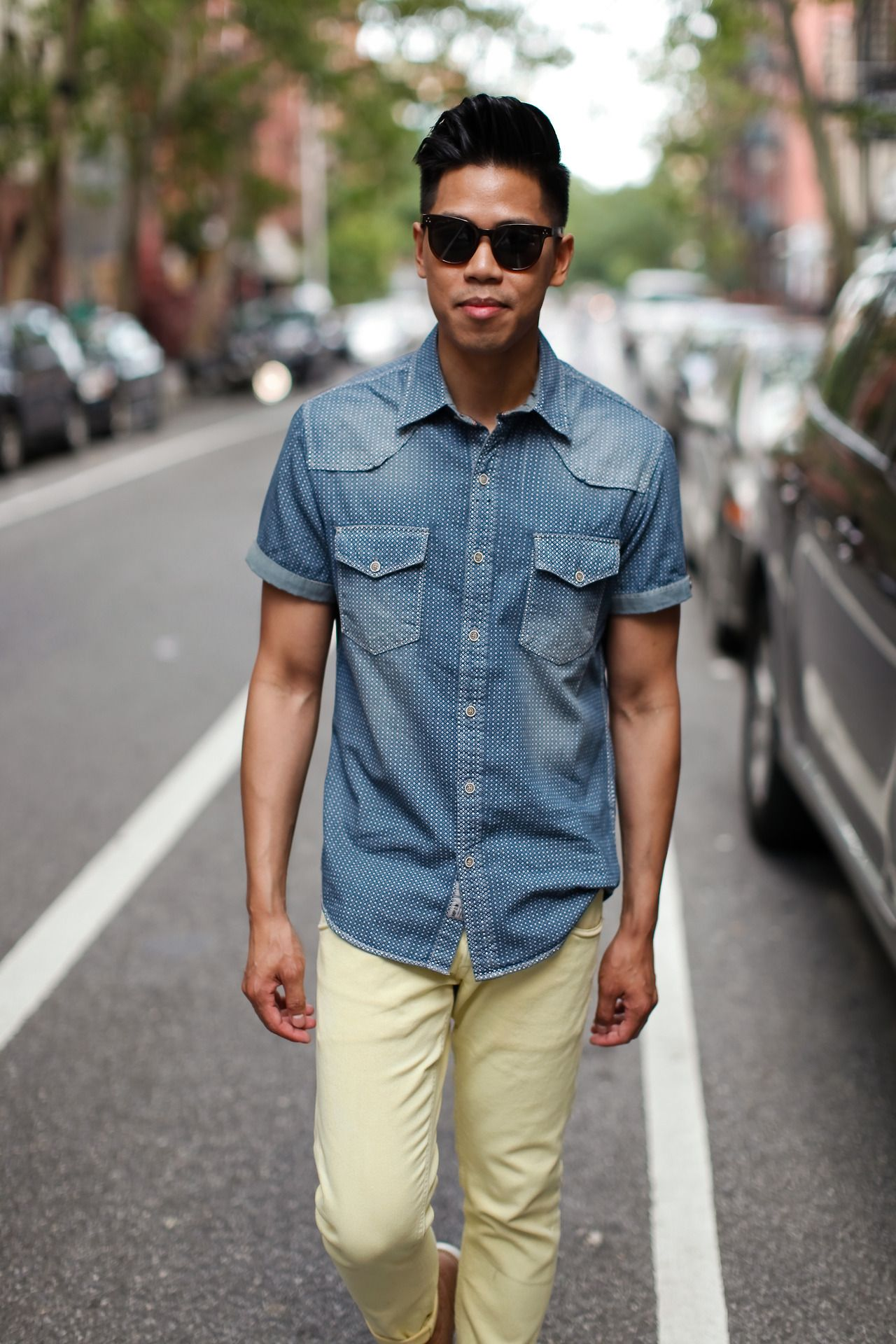 Outfit: How To Wear Menu0027s Faded Denim Faded One... | Closet Freaks
