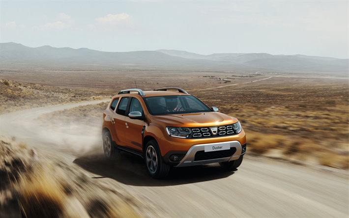 Download Wallpapers Renault Duster 2018 Front View
