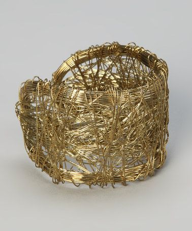 Take a look at this Gold Scribble Cuff by Accessory to Fashion: From $7.99 on @zulily today!