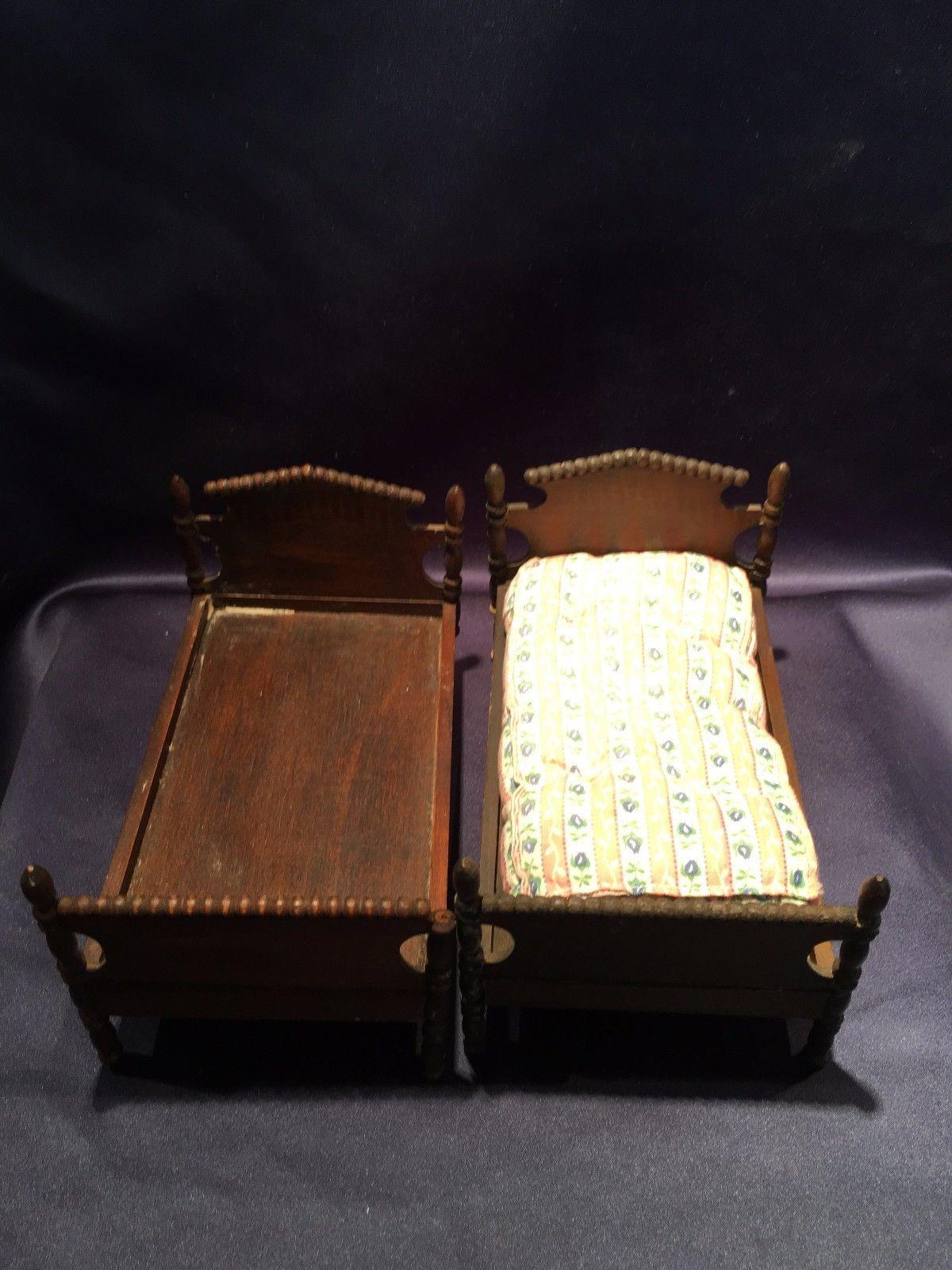 Pair Of Antique Dollhouse Miniature Tynietoy Mahogany 4