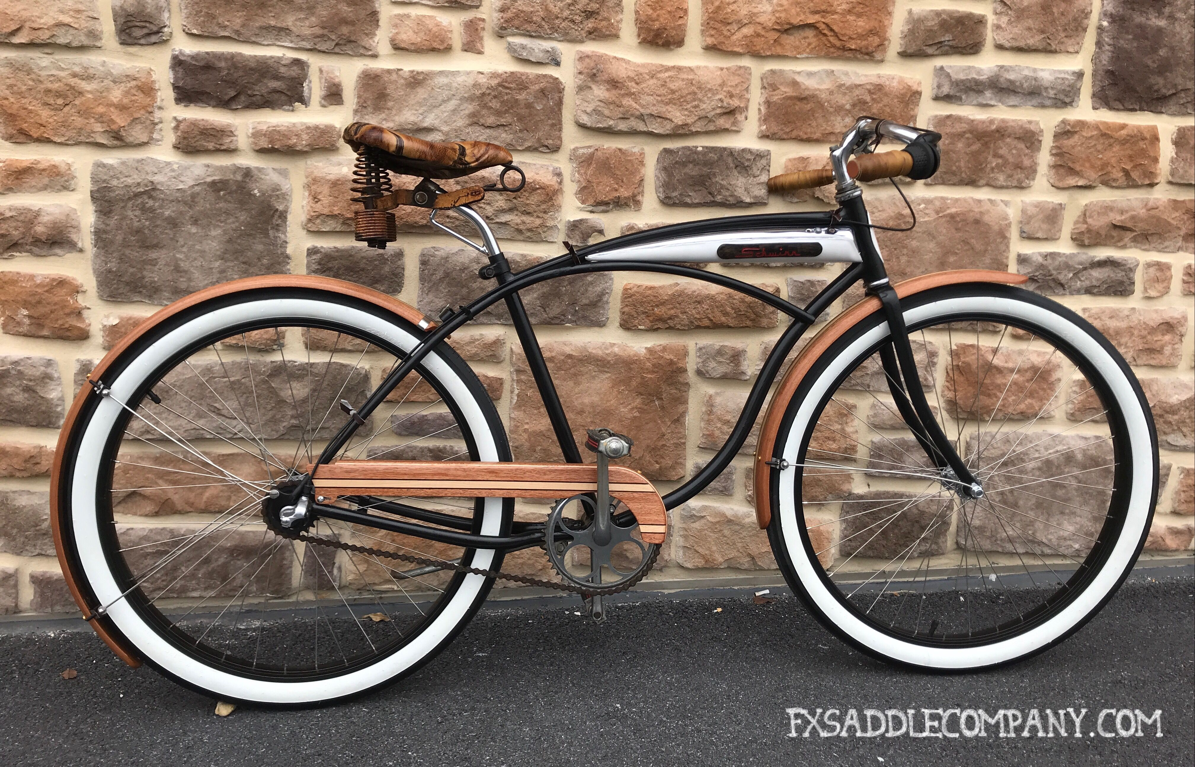78fcccdcee8 Rat rod Schwinn Fleet bicycle with wood fenders | Rat Rod Bicycles ...