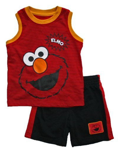Elmo Baby Toddler Boys Shorts And Shirt Clothing Clothing Impulse