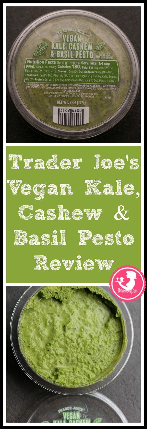 Trader Joe S Vegan Kale Cashew And Basil Pesto Trader Joes Vegan Trader Joes Vegetarian Trader Joes