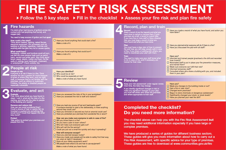 Fire Risk Assessment Checklist Fire risk assessment
