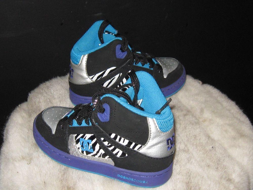2f7c82dae99 Kids DC Shoes Rebound High Sneakers Sz 11.5 Black/Silver/Zebra Striped  Youth #DCShoes #SkateboardSneakers #blackfriday #ebay #smallbusiness