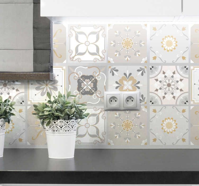 Pin By Krystyna Chlebda On Kitchen In 2021 Wall Stickers Tiles Wall Stickers Wallpaper Floral Tiles