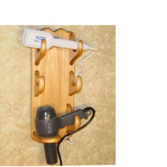 Wall Mount Hair Dryer Caddy Flat Iron Holder Curling Iron ...