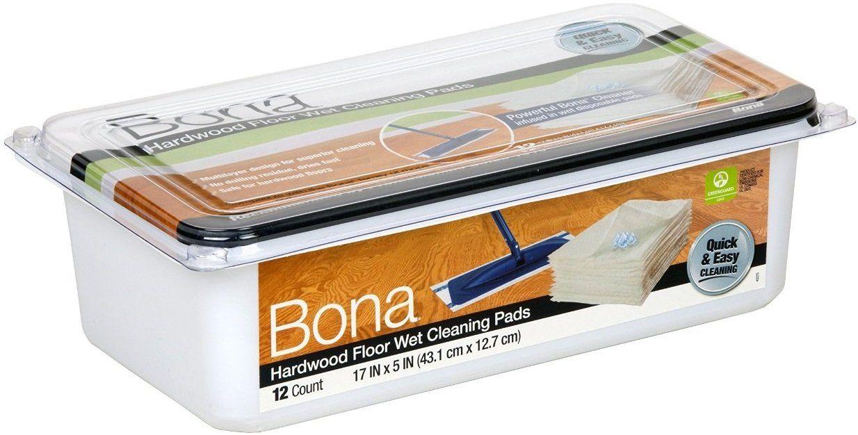 "Bona AX0003506 Hardwood Floor Wet Cleaning Pads, 17"" x 5"