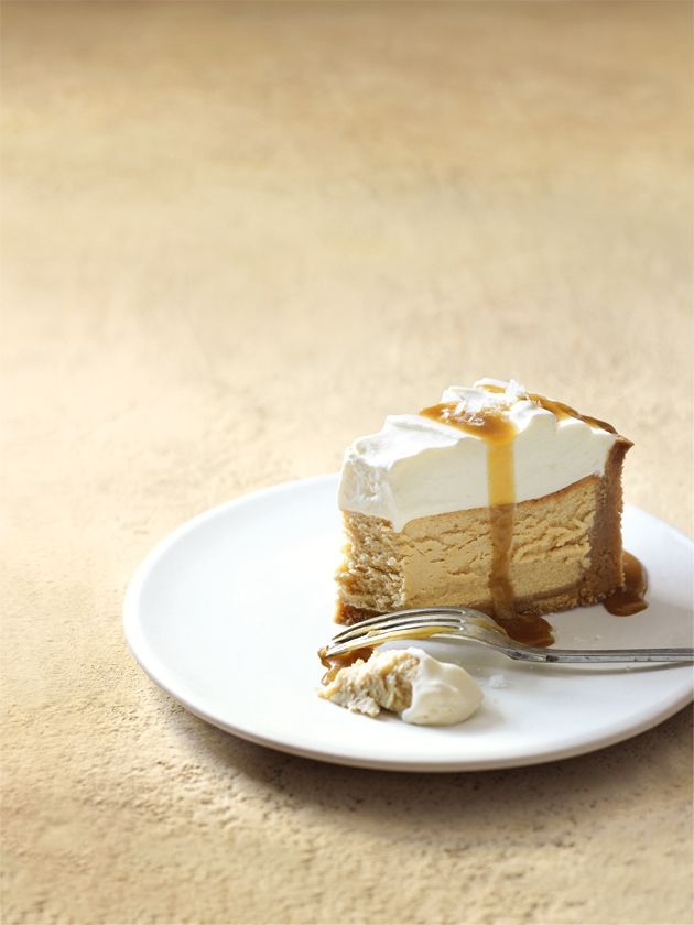 salted caramel and vanilla baked cheesecake | desserts | pinterest