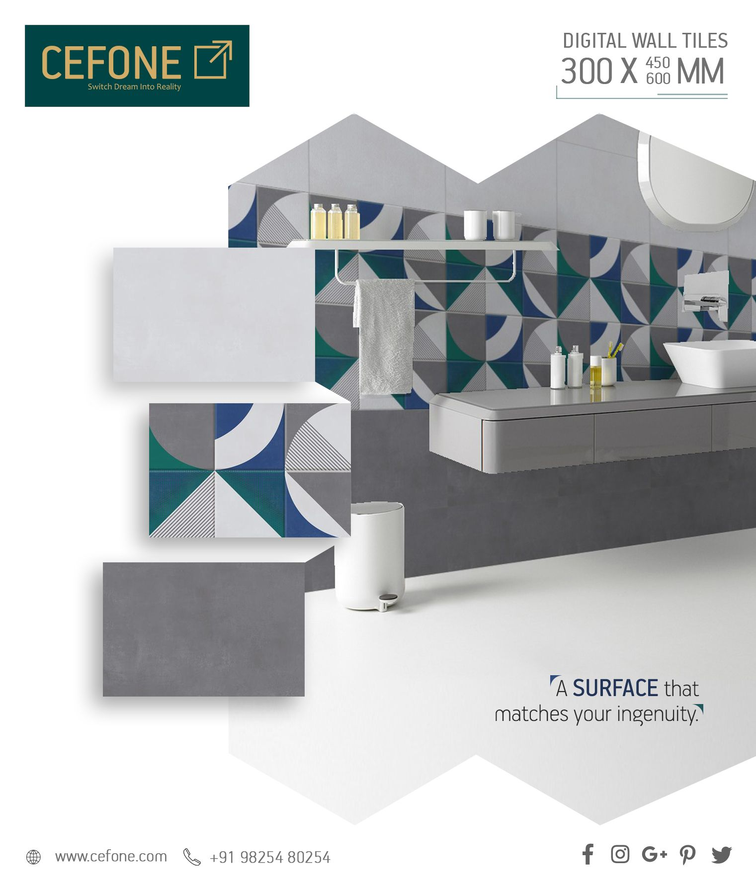 Pin By Cefone Ceramic On Tile Design S Wall Tiles Wall Tiles Design Creative Advertising Design