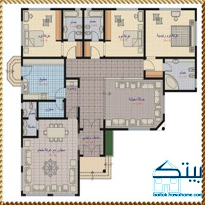 مخطط منزل دور واحد 200 متر House Floor Design Model House Plan Duplex House Design