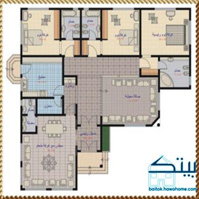 مخطط منزل دور واحد 200 متر مخطط منزل دور واحد 200 متر