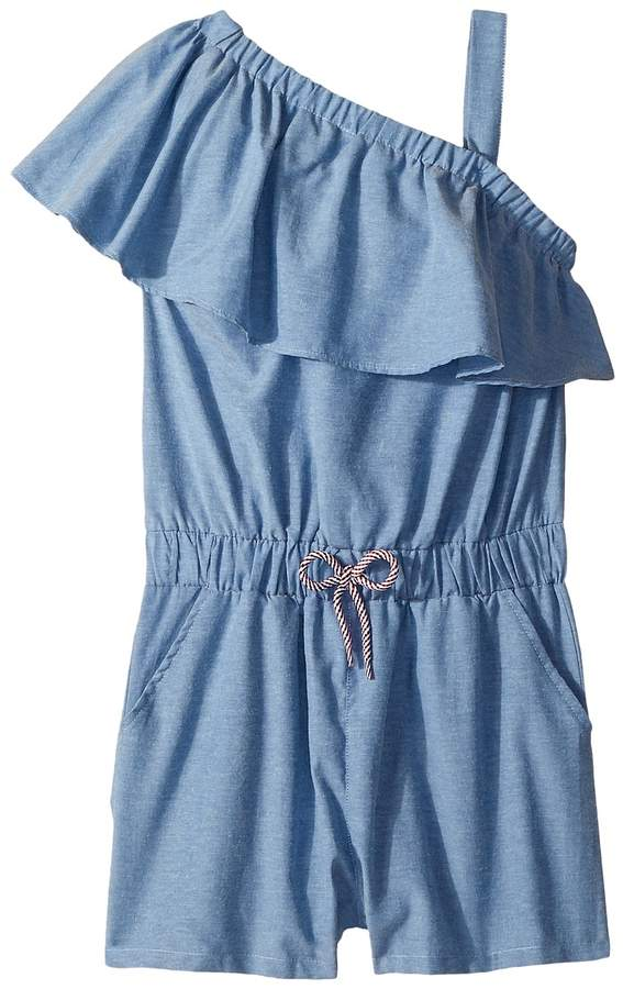 35cd04d435e Maddie by Maddie Ziegler Chambray Ruffle Romper Girl s Jumpsuit   Rompers  One Piece