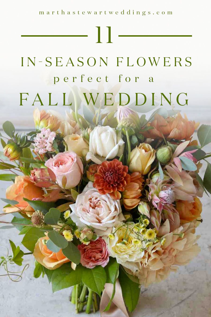 24 Ways To Use In-Season Flowers In Your Fall Wedding