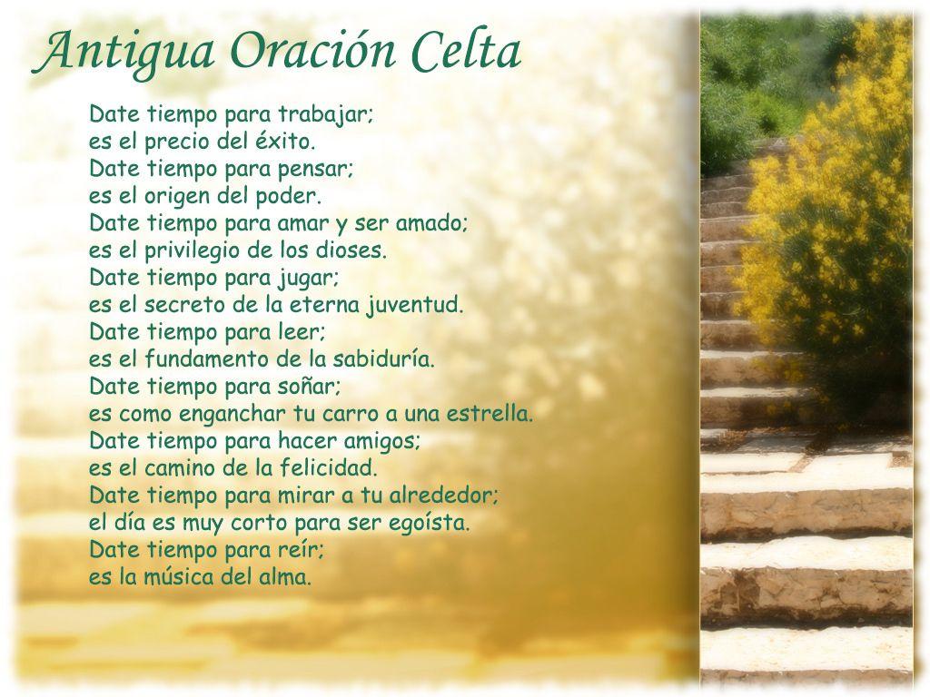 Pin De Claudia Ortiz En Frases Bendicion Celta Oracion
