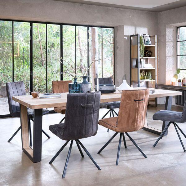 Table salle à manger  25 tables design en bois, métal, verre - table salle a manger loft