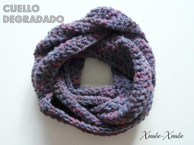 Cuello degradado ganchillo | Bufandas Crochet | Pinterest ...