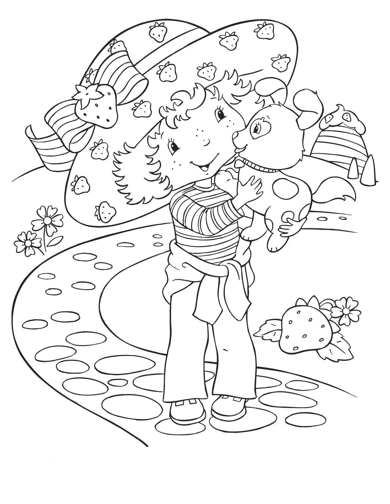 Coloring Pages Strawberry Shortcake And Friends | Places to Visit ...