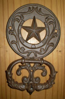 Rustic Western Texas Star Door Knocker New Large 10l Texas Home Decor Texas Star Rustic