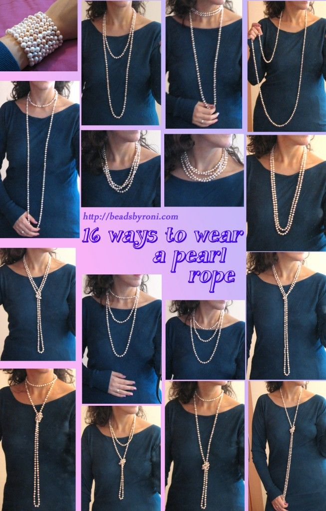 5ecb56ab2cc9 16 diferentes formas de usar un collar largo de perlas ...