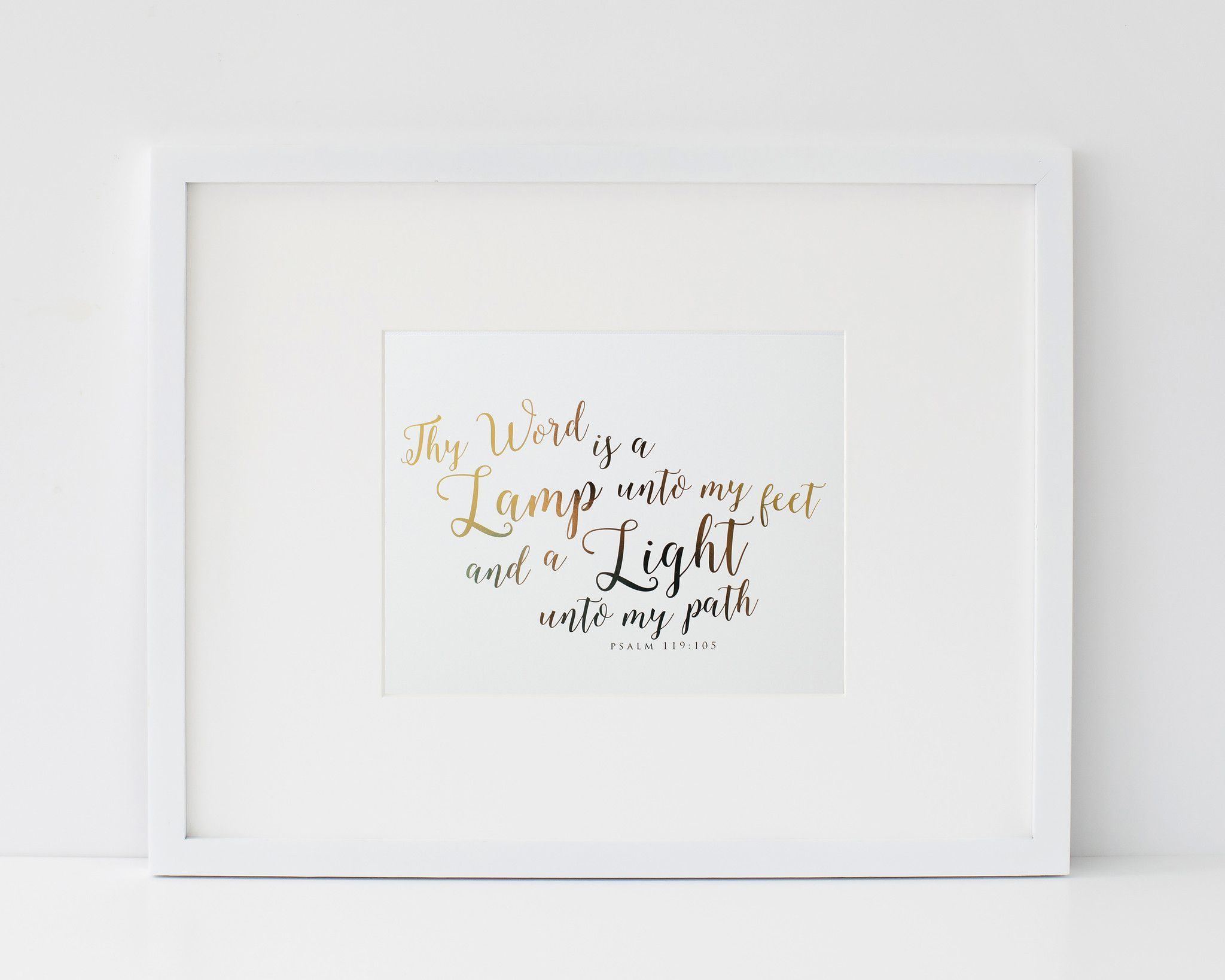 REAL foil print rainbow quote copper foil poster beach sea nature photography