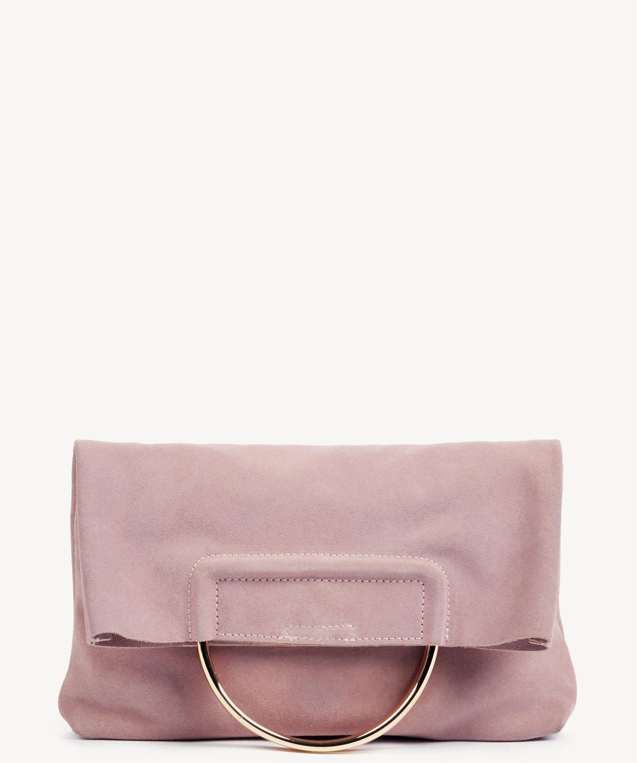 9c20cc42078 Suede Blush Clutch Bag