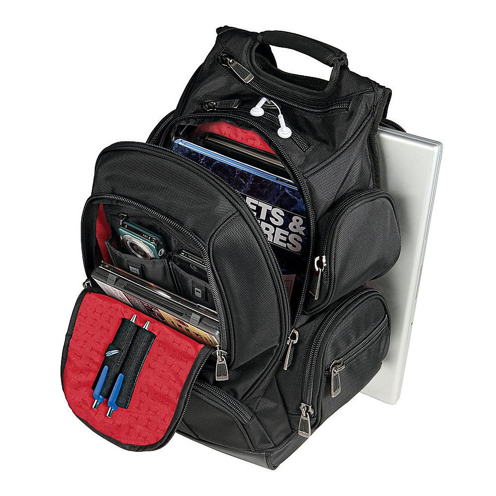 Laptop bags office depot - Office Depot Ativa Mobil It Ultimate Organizer Backpack 185 H X 1275 W X 8 D Black By