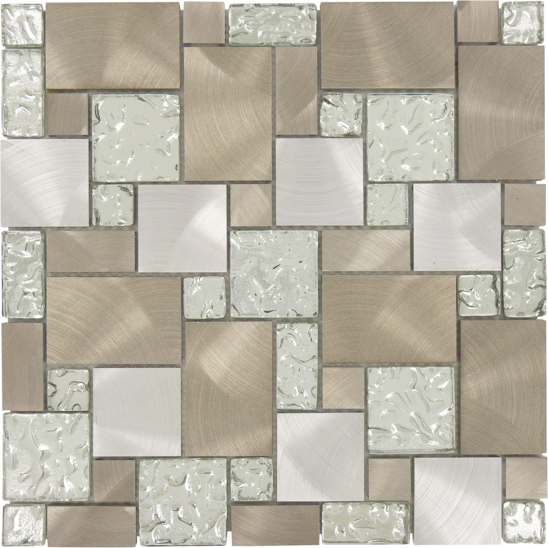 Sheet Size 11 5 8 X 11 5 8 Tile Size Unique Shapes Tiles Per Sheet 72 Tile Thickness 1 4 Grout Joints 1 8 Silver Tile Tiles Metal Tile