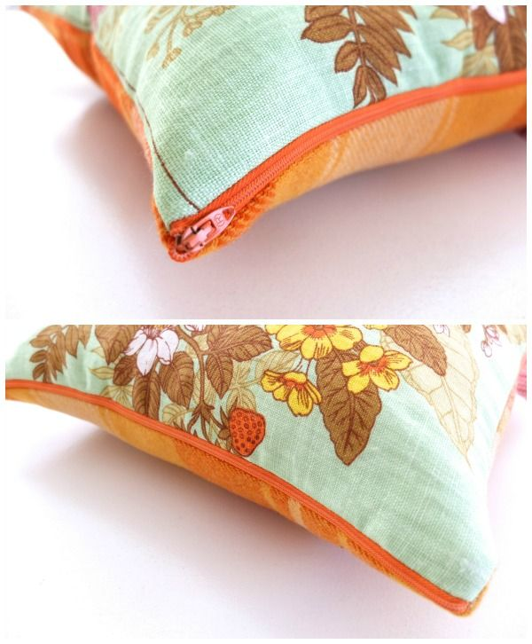 How to make a zippered pillow cover.