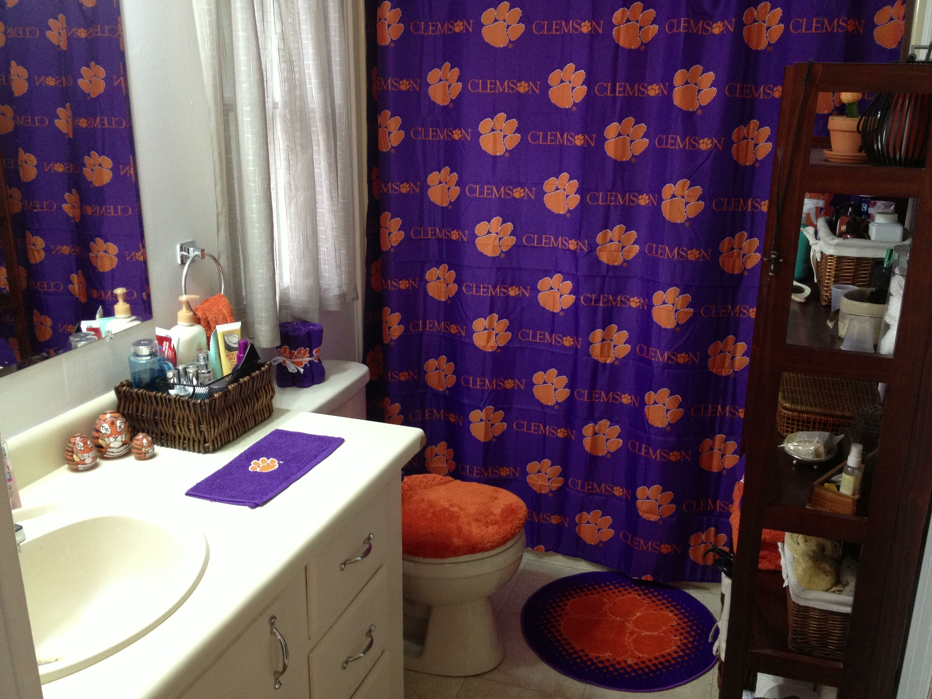 Elegant Clemson Shower Curtain
