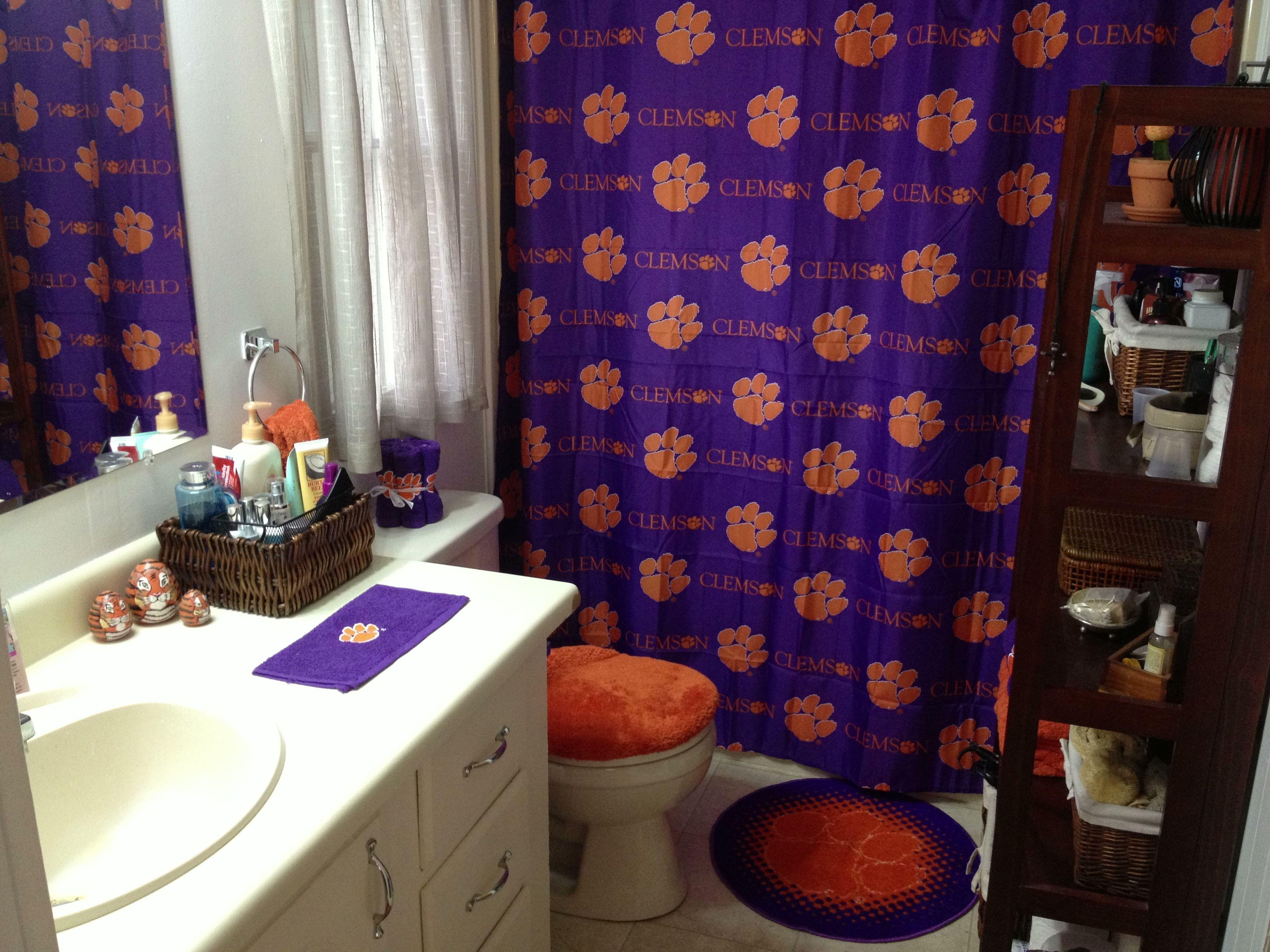 Superb Clemson Shower Curtain