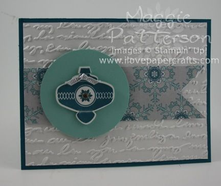 Here's a beautiful, but simple Christmas idea using the Christmas Collectibles bundle from Stampin' Up