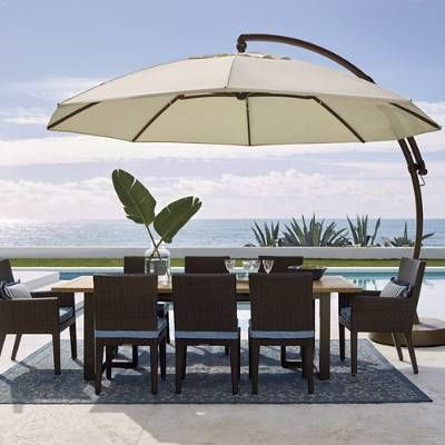 European Round Side Mount Umbrella With Images Patio Umbrella Pergola
