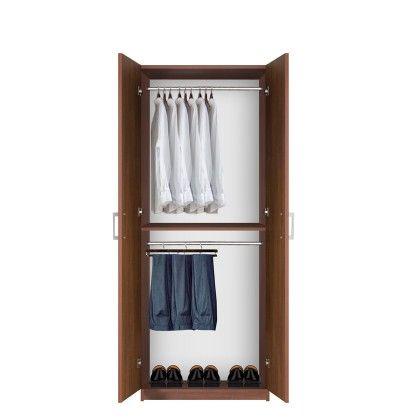 Bella Double Hanging Wardrobe Closet 2 Hang Rods Hanging Wardrobe Wardrobe Closet Wardrobe Armoire