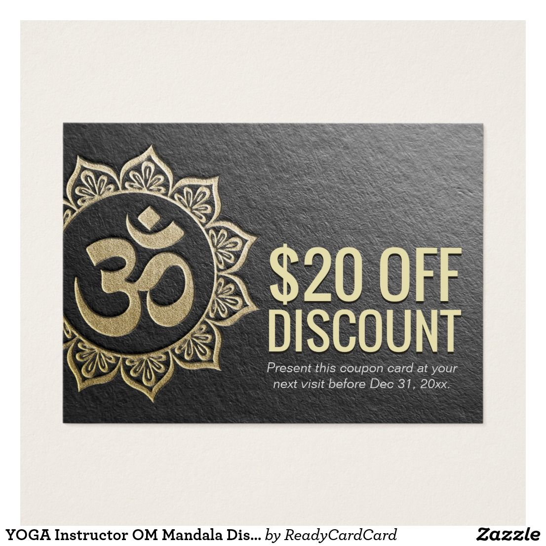 YOGA Instructor OM Mandala Discount Coupon Loyalty | Discount ...