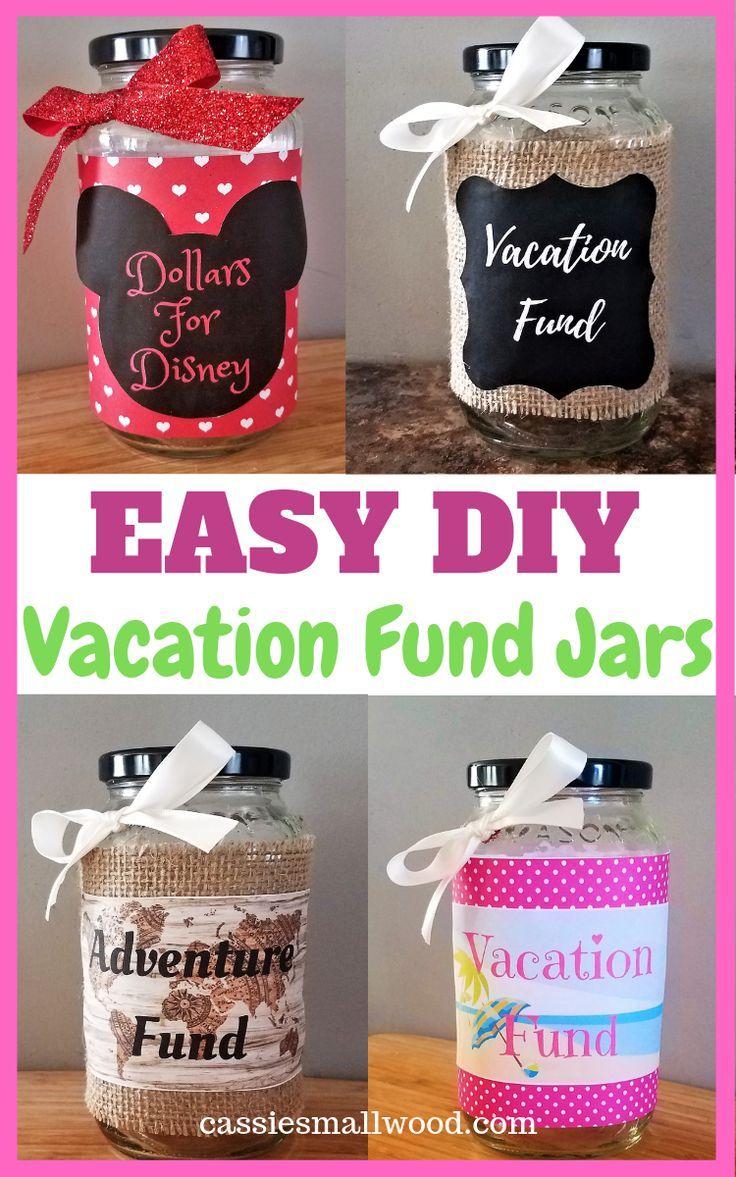 Diy Travel Fund Jar Vacation Savings Cassie Smallwood Mason Jar Saving Money Money Saving Jar Disney Savings Jar