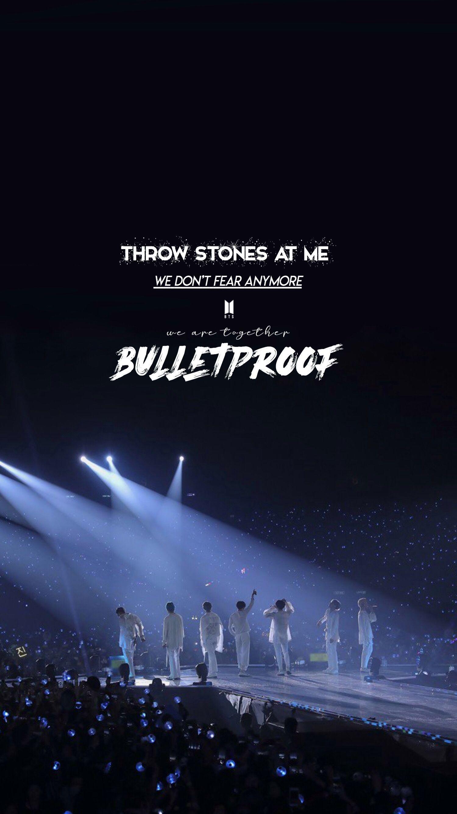 Bts we are bulletproof 歌詞