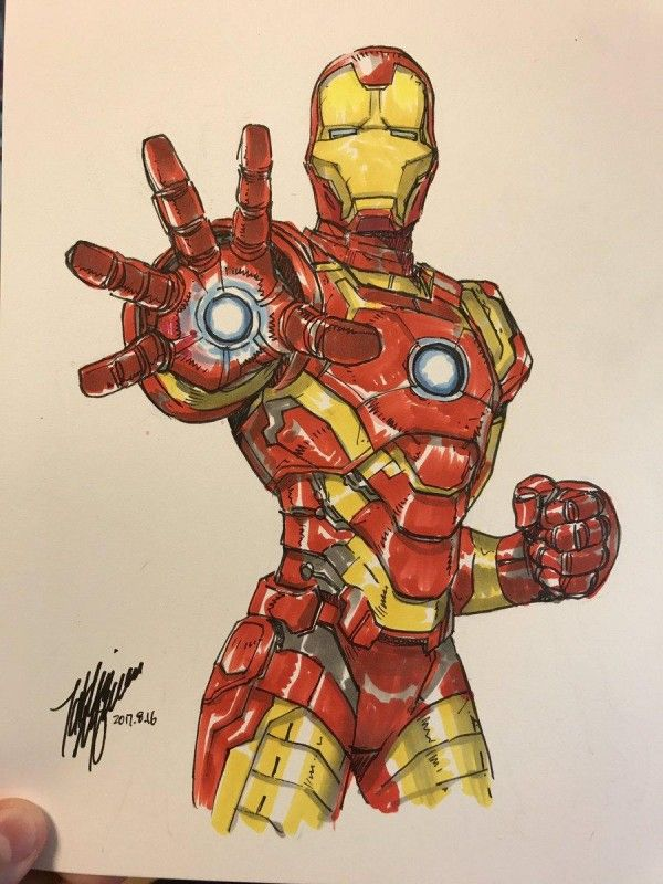 Dessin Iron Man