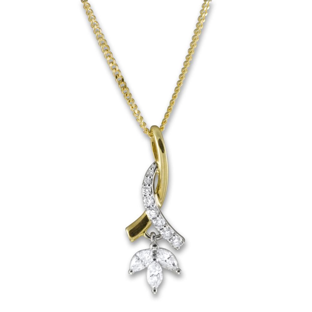 Gold 3 Diamond Necklace - GlamJewelry.org | Jewelry | Pinterest