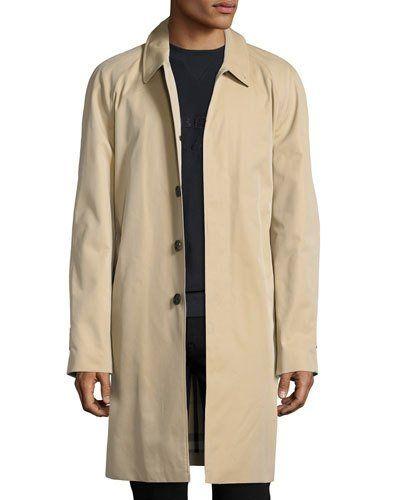 99199267112 Burberry Oakham Gabardine Single-Breasted Car Coat