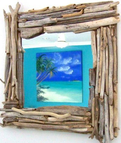 Simple Driftwood DIY Frames   shells   Pinterest   Marcos de fotos ...
