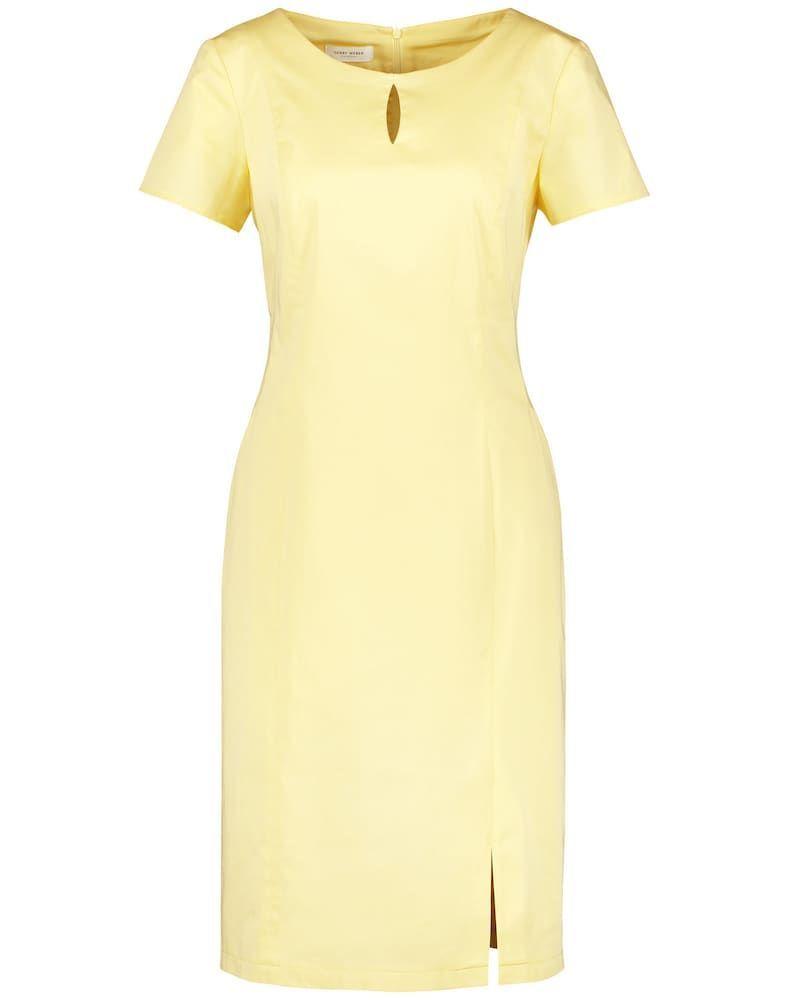Gerry Weber Kleid Gewebe Etuikleid Aus Stretchiger Baumwolle Damen Gelb Grosse 40 Baumwolle Etuikleid Gerry Gewebe K In 2020 Fashion Bodycon Dress Dresses For Work