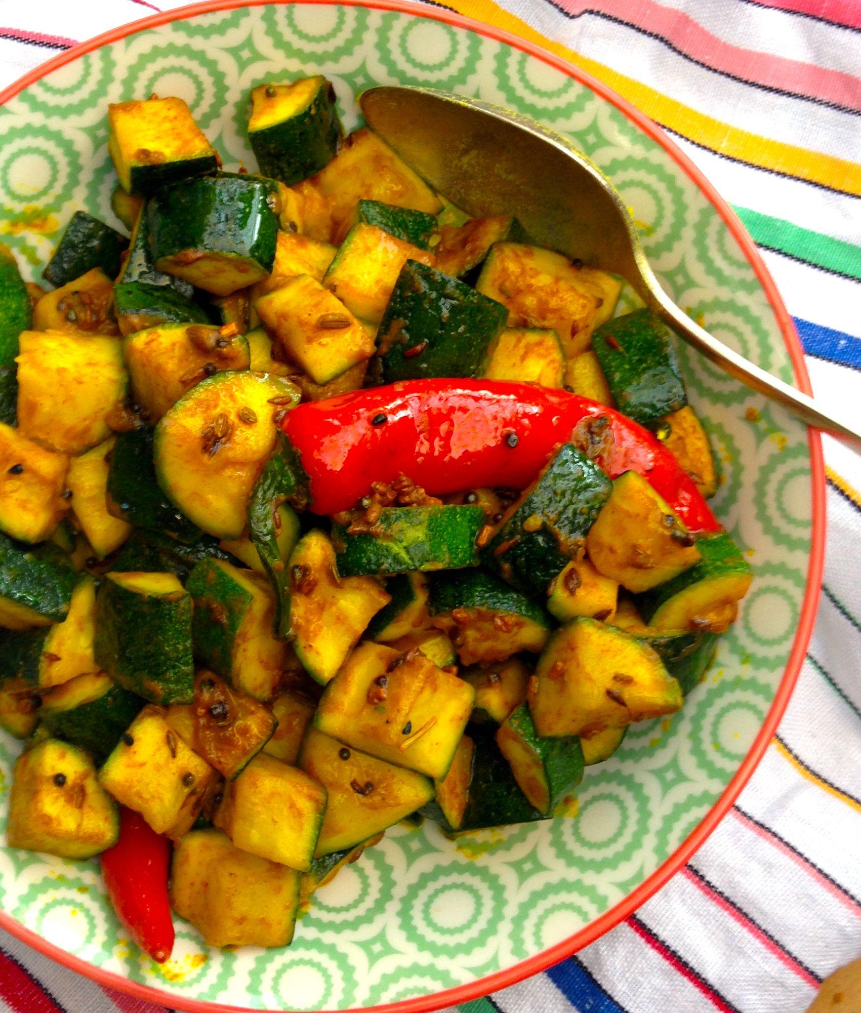 Bengali Style Zucchini Sabzi Zucchini Recipes Indian Indian Food Recipes Indian Side Dishes
